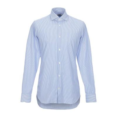MASTRICAMICIAI シャツ アジュールブルー 38 コットン 100% シャツ