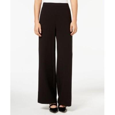 kensie ケンジー ファッション パンツ Kensie Black Womens Size XL Stripe Wide-Leg Pull On Pants Stretch