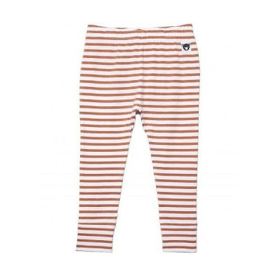 HUXBABY キッズ 子供用 ファッション 子供服 パンツ ズボン Stripe Leggings (Little Kids/Big Kids) - Terracotta/White Stripe