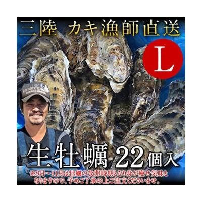 生牡蠣 殻付き 生食用 牡蠣 特大L 22個 生ガキ 大粒カキ 三陸宮城県産 雄勝湾(おがつ湾) 漁師直送 お取り寄せ 新鮮生がき