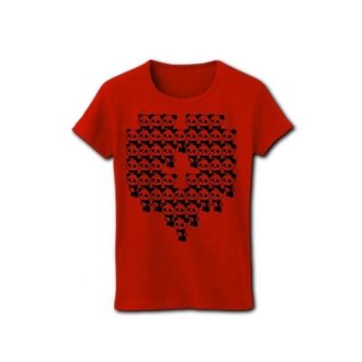 上野48 リブクルーネックTシャツ(レッド)