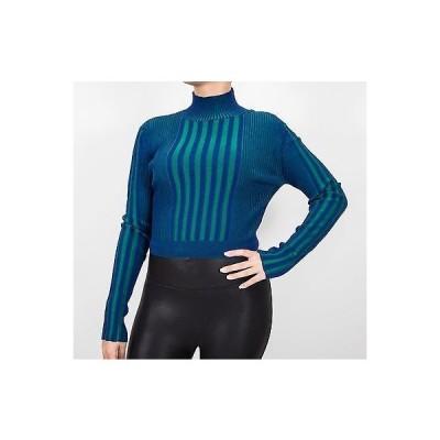 セーター サイモンセバグ Ohne Titel Plaited Rib Turtleneck Sweater Top In Blue size Small 495