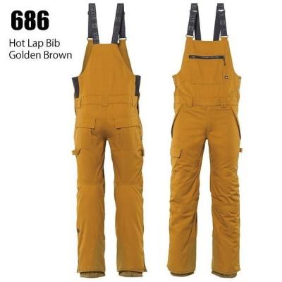 686 シックスエイトシックス ウェア Hot Lap Bib 21-22 Golden Brown メンズ ビブ パンツ スノーボード ロクハチ