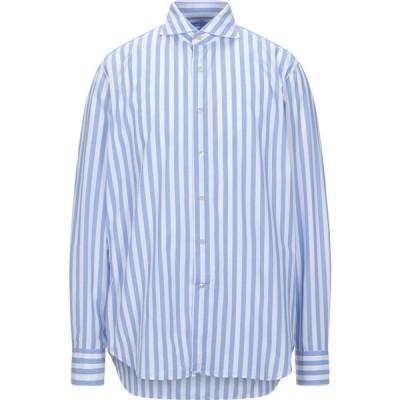 アレッサンドロ ゲラルディ ALESSANDRO GHERARDI メンズ シャツ トップス Striped Shirt Sky blue