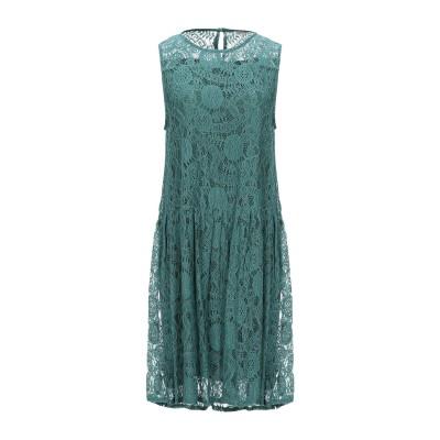 RUE•8ISQUIT ミニワンピース&ドレス グリーン 40 ナイロン 60% / コットン 40% ミニワンピース&ドレス