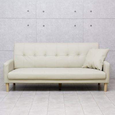 カジュアル ソファ デザインソファ 3人掛 脚付き 背もたれ脱着式 3P リビング チェア イス 椅子 インテリア 家具