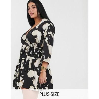 アナザーリーズン Another Reason Plus レディース ワンピース ワンピース・ドレス tiered wrap dres in bleached print
