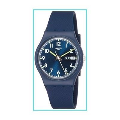 Swatch Originals Swiss-Quartz Silicone Strap, Blue, 19 Casual Watch (Model: GN718)【並行輸入品】