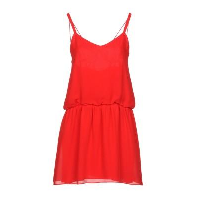 HAUTE HIPPIE ミニワンピース&ドレス レッド XS シルク 100% ミニワンピース&ドレス