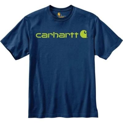 カーハート CARHARTT メンズ Tシャツ ロゴTシャツ トップス Short Sleeve Logo Tee DK COBALT HRTH