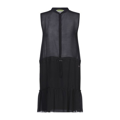 VERSACE JEANS ミニワンピース&ドレス ブラック 40 アセテート 56% / レーヨン 44% ミニワンピース&ドレス