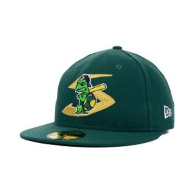 ニューエラ メンズ 帽子 アクセサリー Beloit Snappers AC 59FIFTY FITTED Cap Green