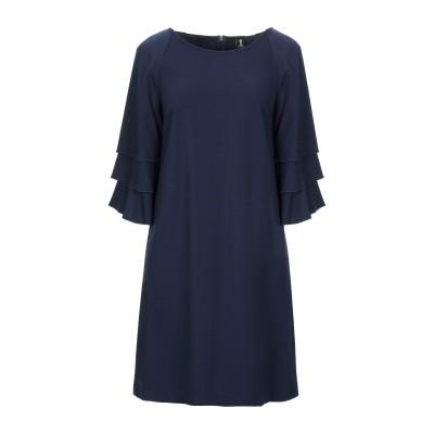 1-ONE ミニワンピース&ドレス ダークブルー 40 レーヨン 69% / ナイロン 25% / ポリウレタン 6% ミニワンピース&ドレス