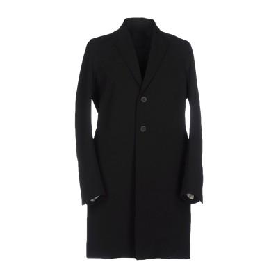 リック オウエンス RICK OWENS コート ブラック 46 ポリエステル 97% / ポリウレタン 3% コート