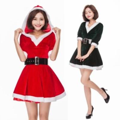 クリスマス サンタ XMAS サンタクロース 2色 可愛い ワンピース  イベントパーティー コスプレ衣装 sdps1303
