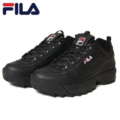 フィラ FILA スニーカー 厚底 黒 メンズ レディース ユニセックス DISRUPTOR 2 F0215 BLACK