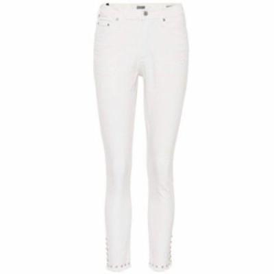 シチズン ジーンズ・デニム Rocket embellished crop jeans Natural Pearl