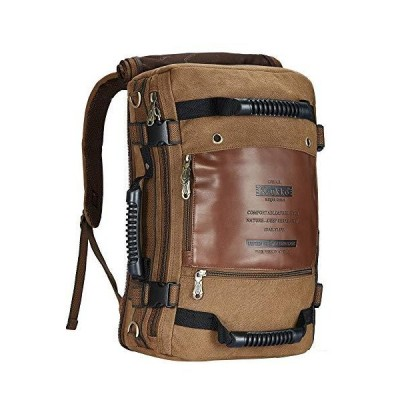ボストンバッグ4WAY屋外バックパック綿100%大容量ユニセックスリュックキャンバスバッグ保持するKAUKKO