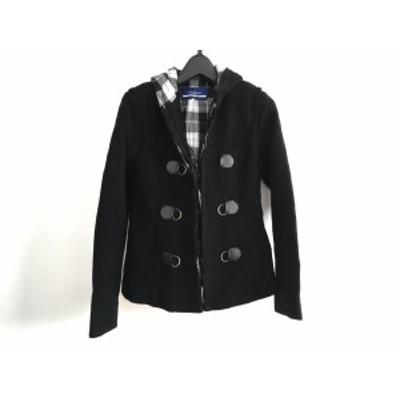 バーバリーブルーレーベル Burberry Blue Label コート サイズ36 S レディース - 黒 長袖/ショート丈/冬【中古】20210123