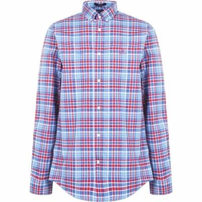 ガント Gant メンズ シャツ ワイシャツ トップス Oxford Plaid Shirt Red/Blue