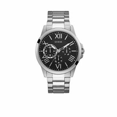 腕時計 ゲス GUESS GUESS Men's 46mm Steel Bracelet & Case Quartz Black Dial Analog Watch W1184G1...