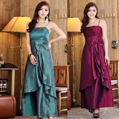 パーティードレス ロングドレス イブニングドレス フォーマル マキシ丈 二次会 ウェディング ペアトップ 大きいサイズ