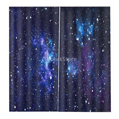 3Dデジタル印刷 鮮明 画像 ウィンドウ カーテン 遮光 166 * 150cm 部屋 装飾的 多種選択可能 - #3