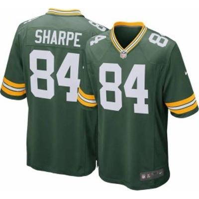 ナイキ メンズ シャツ トップス Nike Men's Home Game Jersey Green Bay Packers Sterling Sharpe #84 -