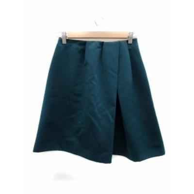 【中古】ストロベリーフィールズ STRAWBERRY-FIELDS スカート フレア 台形 ひざ丈 2 緑 グリーン /HO2 レディース