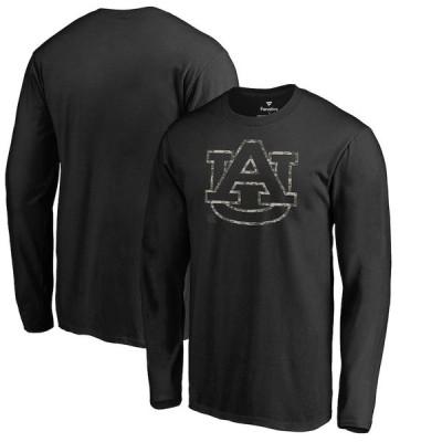 """メンズ Tシャツ 長袖 ロンT """"Auburn Tigers"""" Fanatics Branded Cloak Long Sleeve T-Shirt - Black"""