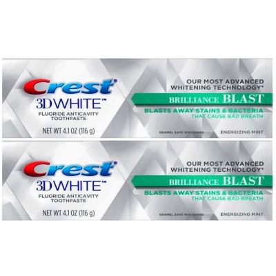 【新発売】【1+1】【 安心米国製】米国で大人気のホワイトニング歯磨き粉 Crest 3D クレスト 3Dホワイト Brilliance BLAST ホワイトニング歯磨き粉 116g X 2