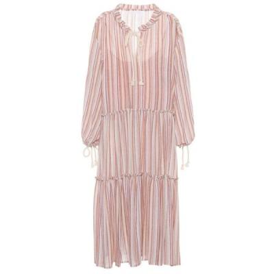 クロエ See By Chloe レディース ワンピース ワンピース・ドレス Striped wool-blend dress Multicolor