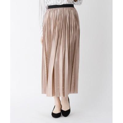 CORDIER(コルディア) ブリリアントサテンプリーツスカート