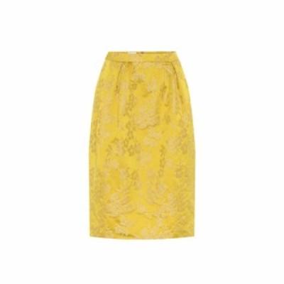 ドリス ヴァン ノッテン Dries Van Noten レディース ひざ丈スカート スカート Jacquard midi skirt Yellow