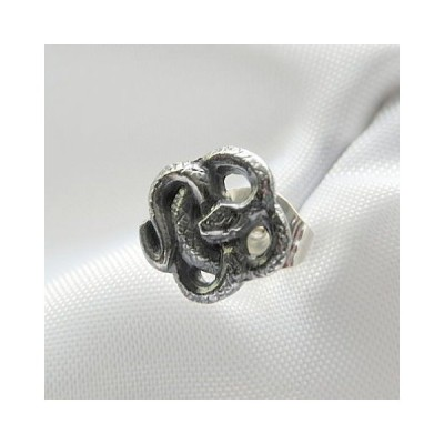蛇ピアス スネークピアス メンズピアス レディースピアス 蛇 ピアス 男女兼用ピアス ハンドメイド 日本製 DaDa silver works