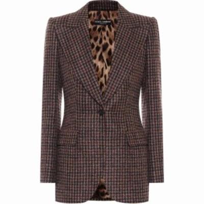 ドルチェandガッバーナ Dolce and Gabbana レディース スーツ・ジャケット アウター Tweed wool and alpaca-blend blazer Quadri-Check-T