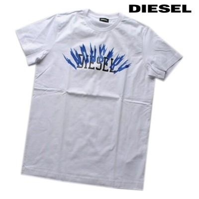 DIESEL ディーゼル Tシャツ 半袖 プリント Tシャツ メンズ T-DIEGO-A10 WHITE
