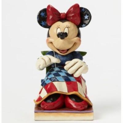 ジムショア ミニーマウス 裁縫 年をかさねた栄光 ディズニー 4045237 Old Glory Americana Minnie Mouse Figurine JimShore □