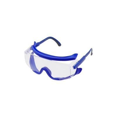 保護めがね1眼型オーバーグラスタイプ SN-727 山本光学 SN-727 ブルー