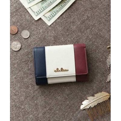 KAZZU / [Clelia/クレリア] 三つ折りミニ財布 レディース トリコロールカラー Riberte CL-17026 WOMEN 財布/小物 > 財布