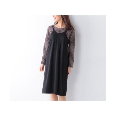 大きいサイズ Aラインキャミソールワンピース ,スマイルランド, ワンピース, plus size dress