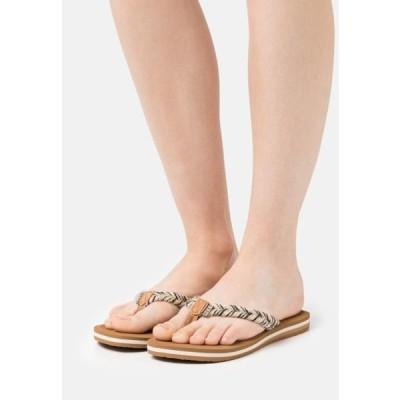 リーフ レディース 靴 シューズ CUSHION BREAK - T-bar sandals - black/multicolor