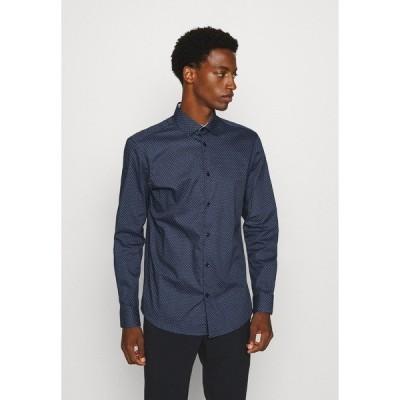セレクテッドオム シャツ メンズ トップス SLHSLIMNEW MARK - Formal shirt - dark blue