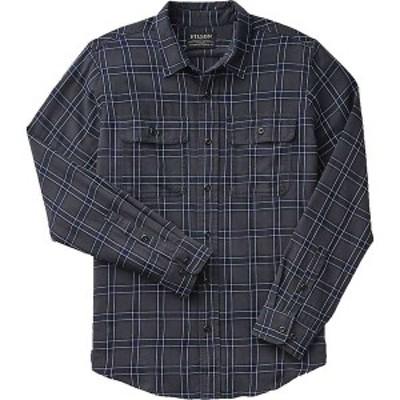 フィルソン メンズ シャツ トップス Filson Men's Washed Scout Shirt Faded Black / Indigo / White Plaid