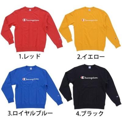 【4色展開】Champion チャンピオン CREWNECK SWEATSHIRTS C3 Q002 レッド / イエロー / ロイヤルブルー / ブラック メンズ スウェット トレーナー トップス