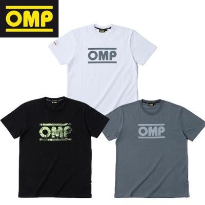 (OMPレーシング/OMP Racing )レーシング スピリット Tシャツ メンズ ブラック グレー ホワイト ロゴ 半袖