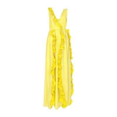 エムエスジーエム MSGM ロングワンピース&ドレス イエロー 42 ポリエステル 100% ロングワンピース&ドレス