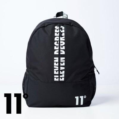 イレブンディグリーズ 11Degrees Printed Front Backpack - Black ブラック リュック バッグ カバン メンズ イギリス[鞄]