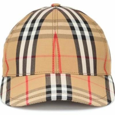 バーバリー Burberry レディース キャップ ベースボールキャップ 帽子 vintage check cotton baseball cap Antrique Yellow