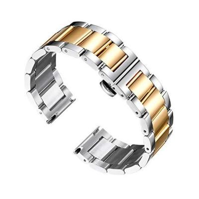 BINLUNステンレススチール腕時計バンド交換用メタルウォッチバンドポリッシュマットブラッシュ仕上げソリッド